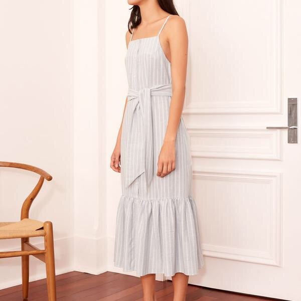 THE FIFTH LABEL | Pixel Stripe Midi Dress SAGE