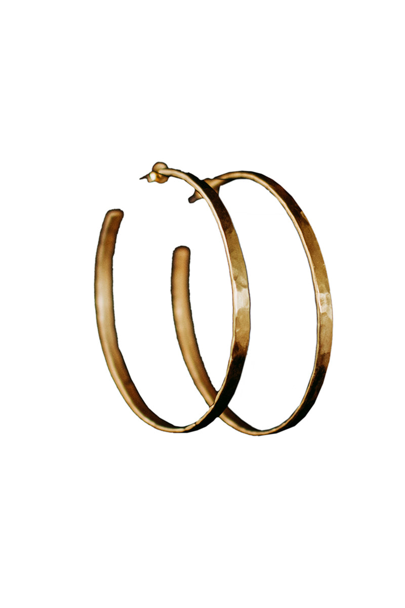 Jump - Large Hoop Earrings - Gold