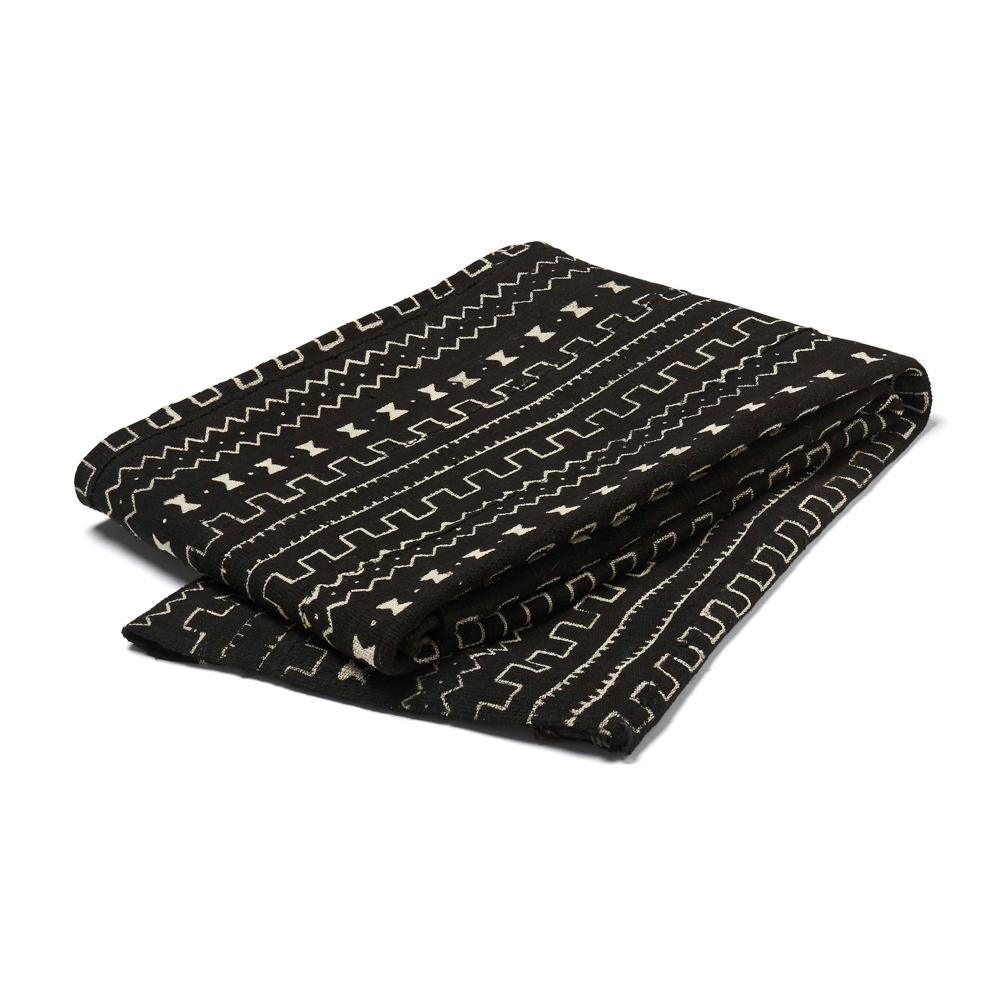 Mali Mud Cloth Throw - Black