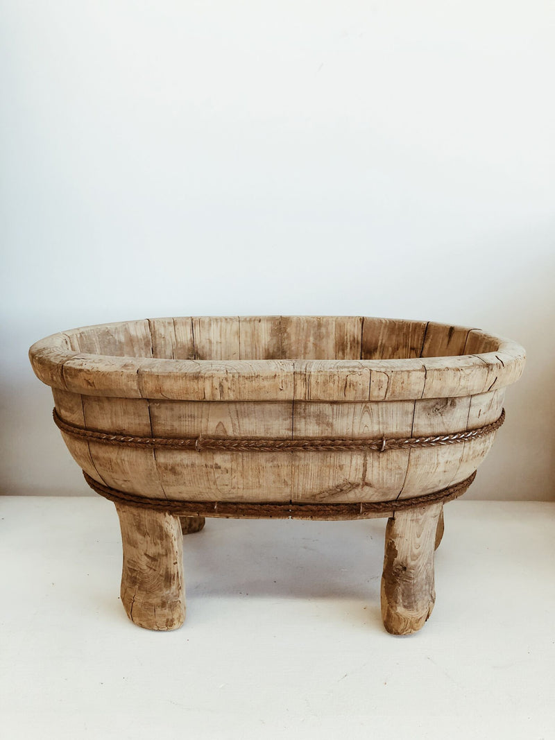 Wooden Basin on Legs - PRE ORDER - MID OCT DELIVERY