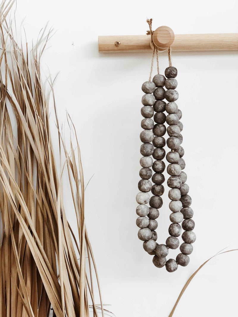 Clay Beads Round - Charcoal