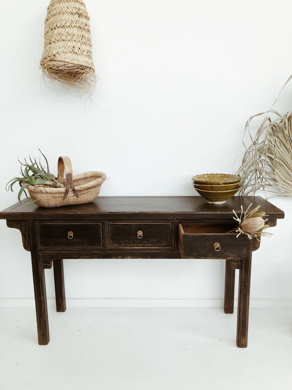 Console Table - 3 Draw - Black