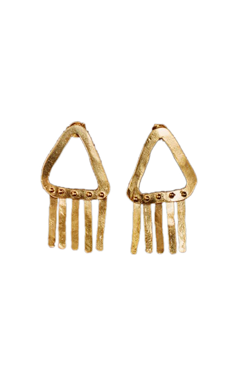 Jump - Fringed Earrings - Gold