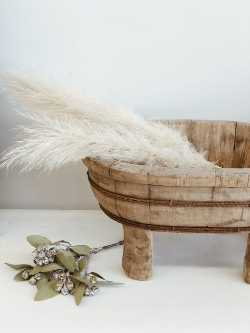 Wooden Basin on Legs