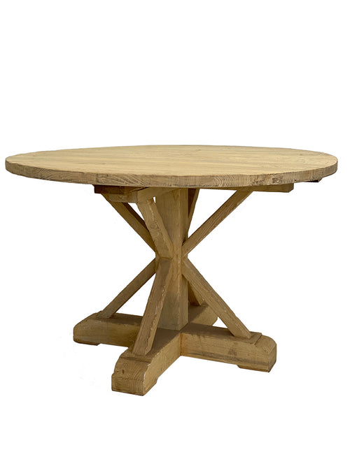 Elm Dining Table Round