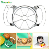 1 PCS Stainless Steel Apple Pear Slicer Cutter Divider Corer Melon Wedger with 8pcs Blades