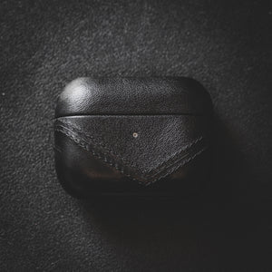 Leather AirPods Pro Case - Black Edition