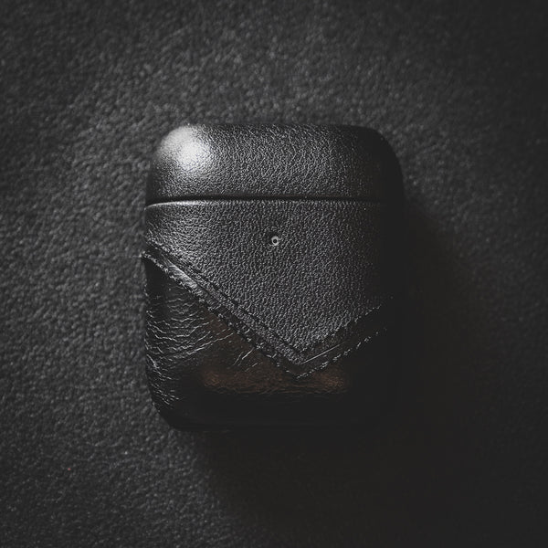 Leather AirPods Case - Black Edition