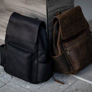 LEATHER Rugged Backpack - BLACK EDITION