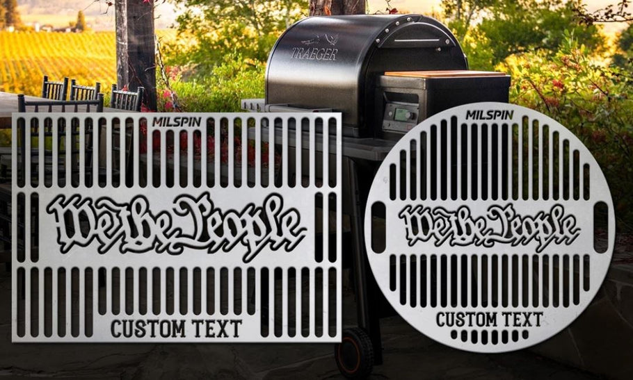 Engraved Custom Made Stainless Steel Grill Grates From MILSPIN