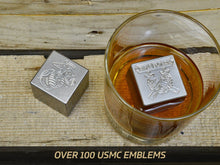Milspin stainless steel engraved whiskey stones