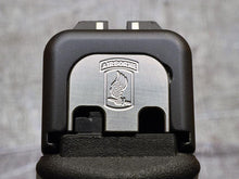 slide back plates with custom engraved Army insignia by MILSPIN