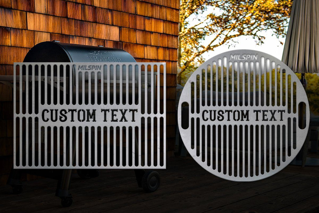 Milspin Custom Text Grill Grate