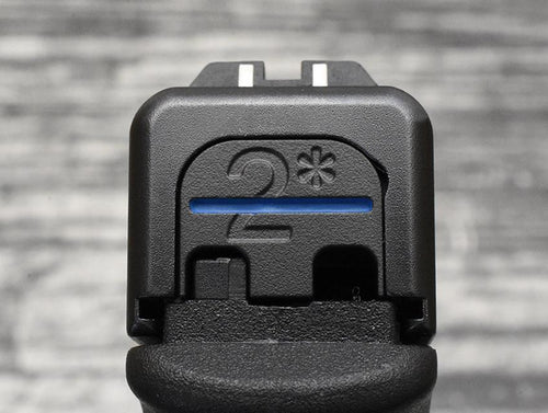 2* Thin Blue Line Glock Slide Plate