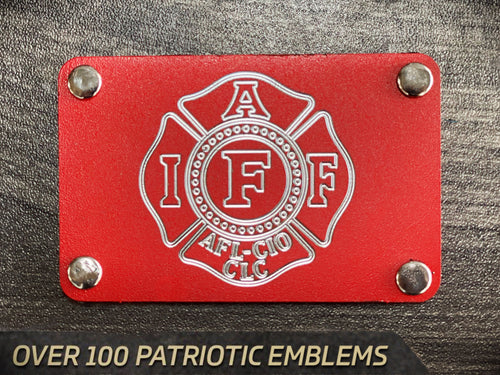 LEO, FIRE AND FIRST RESPONDER EMBLEMS  Custom Engraved Metal Patch (Select 1 Emblem)