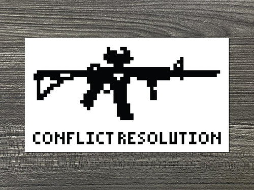 Conflict Resolution (16 bit) Vinyl Decal