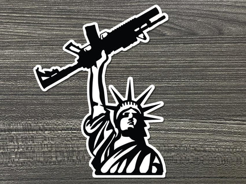 Lady Liberty Rifle Vinyl Decal