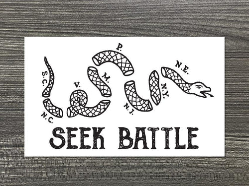 Seek Battle Vinyl Decal