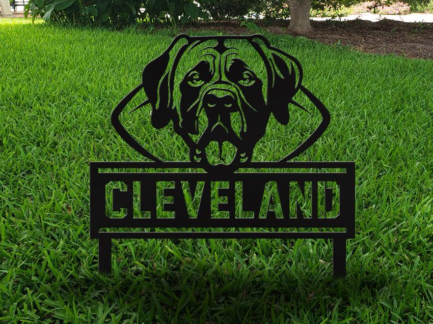 Milspin Cleveland Football Mascot Yard Nature Nail