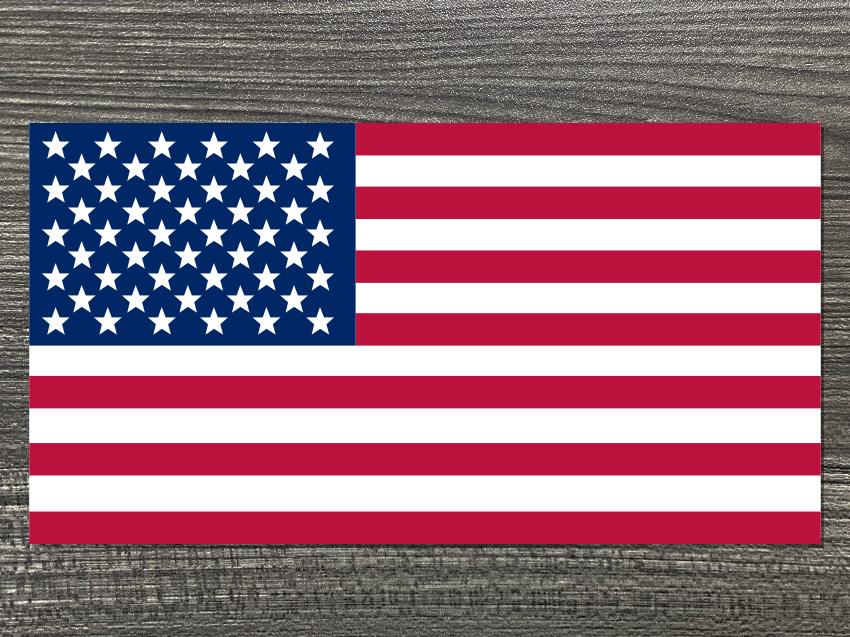 Tri-Color U.S Flag Decal
