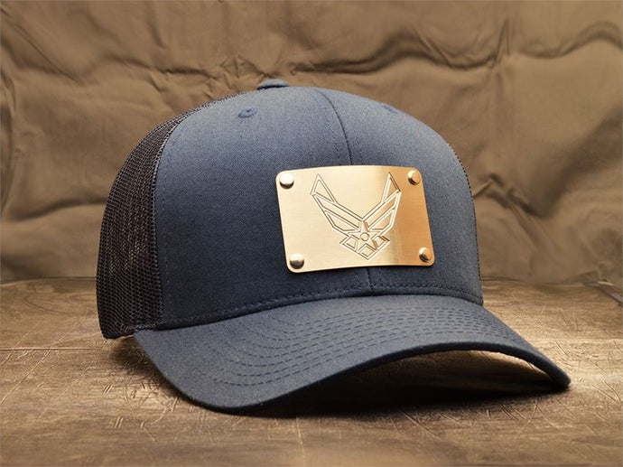 Milspin US Air Force Machined Metal Plate Hat