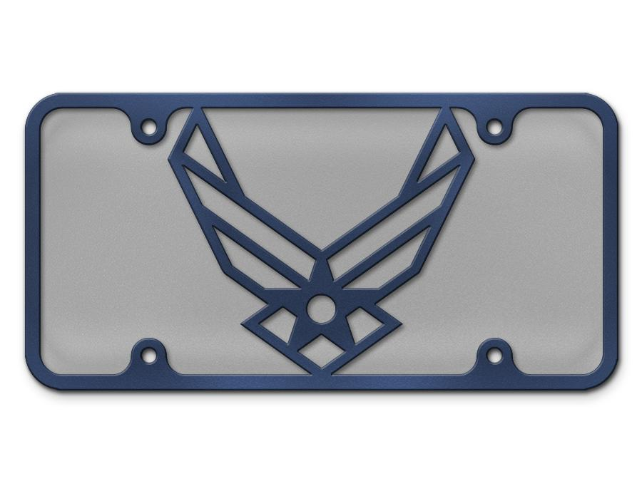 Milspin Air Force Logo Steel Cut License Plate