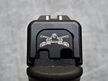 Slide back plate with Army insignia