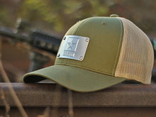 Military Branch Machined Metal Plate Hat (USMC, USAF, USA, USN, USCG)