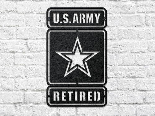 custom Army retired steel cut out metal work