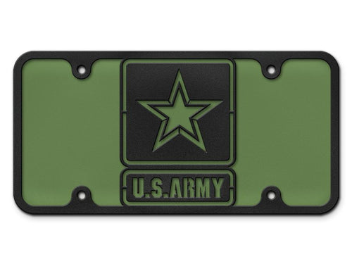 Army Logo Steel Cut License Plate