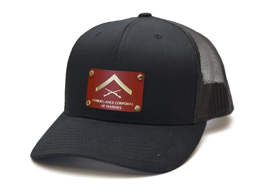 Senior Lance Corporal of Marines Steel Plated Snap-Back