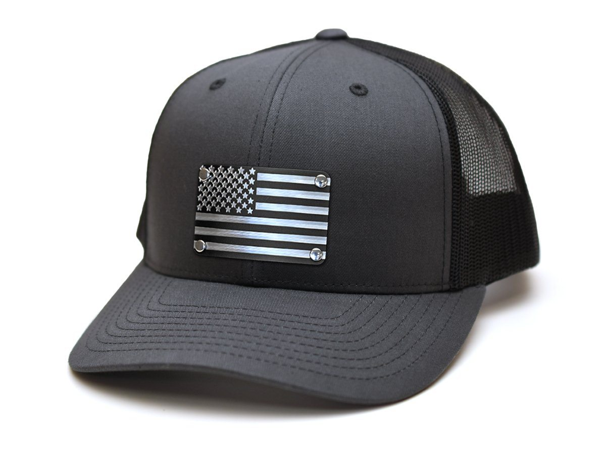 American Flag (Black) Steel Plated Snap-Back