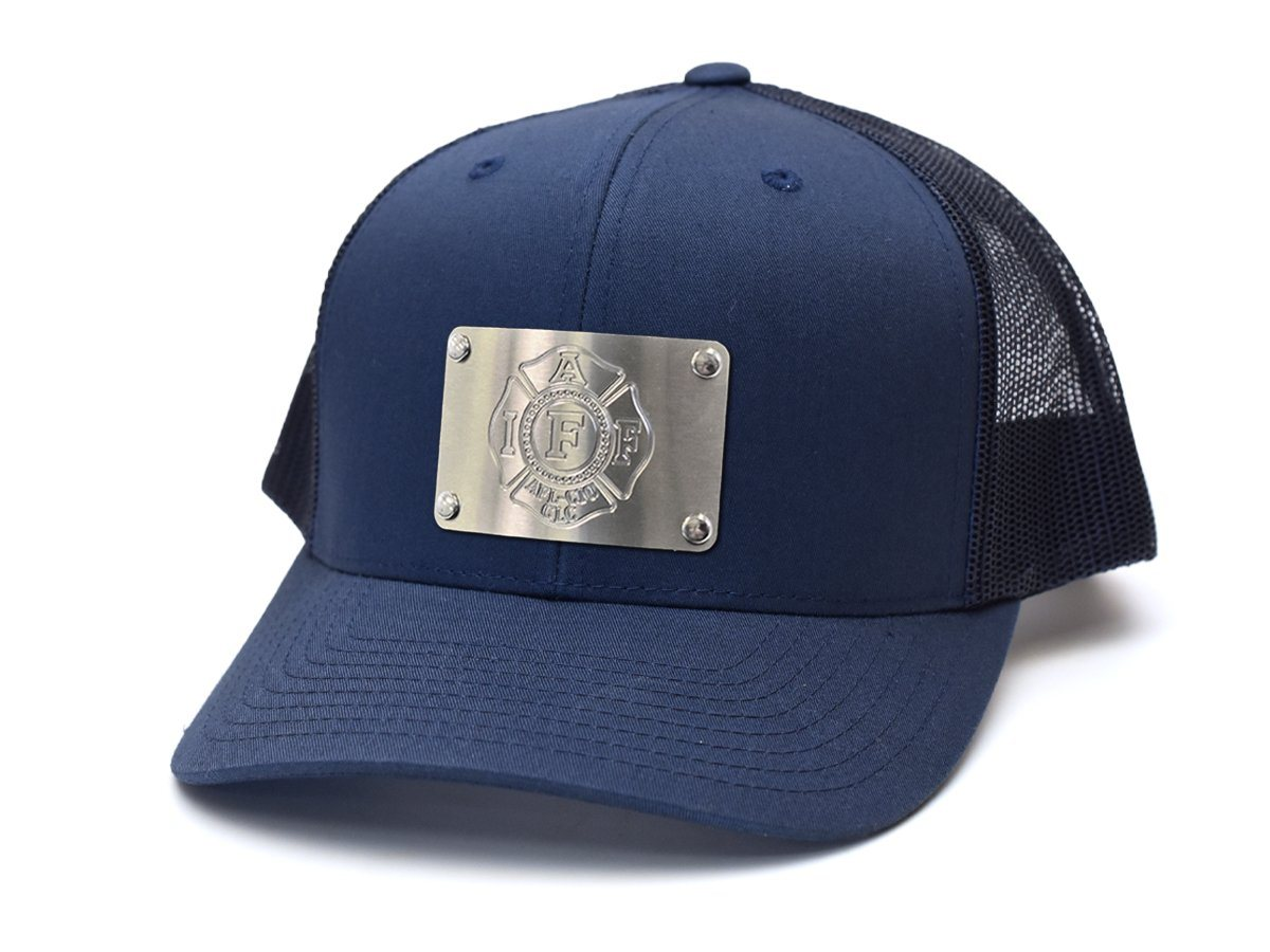 IAFF Stainless Steel Plated Snap-Back