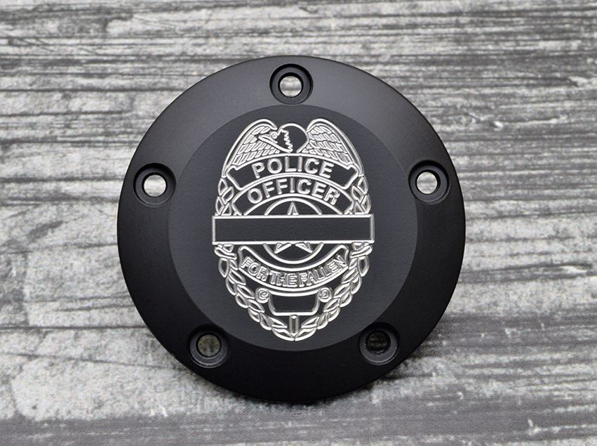 Milspin Fallen Officer Tribute Engraved Harley Davidson Points Cover