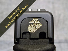 Milspin custom engraved Glock back plates with insignia