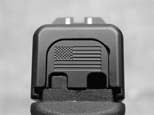Milspin Blacked Out American Flag Slide Back Plate