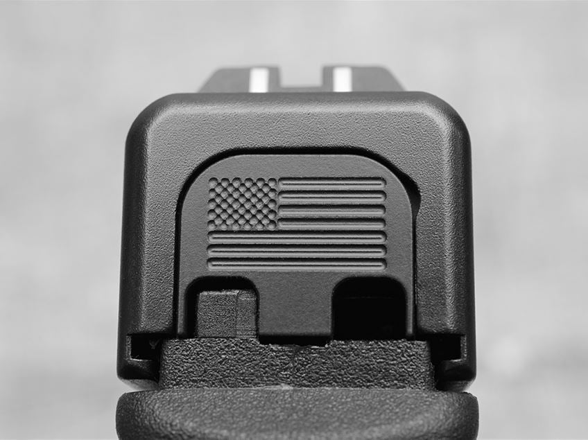 Blacked Out American Flag Slide Back Plate