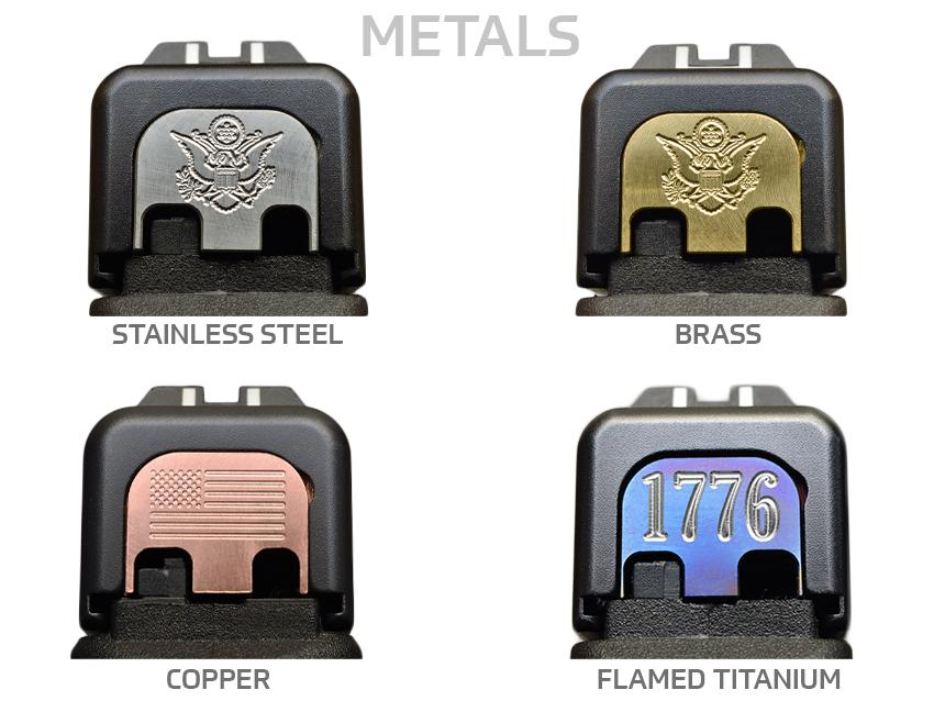 ARMY Slide Back Plates (Over 100 Emblems)