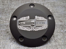 Milspin engraved Harley points covers with insignia