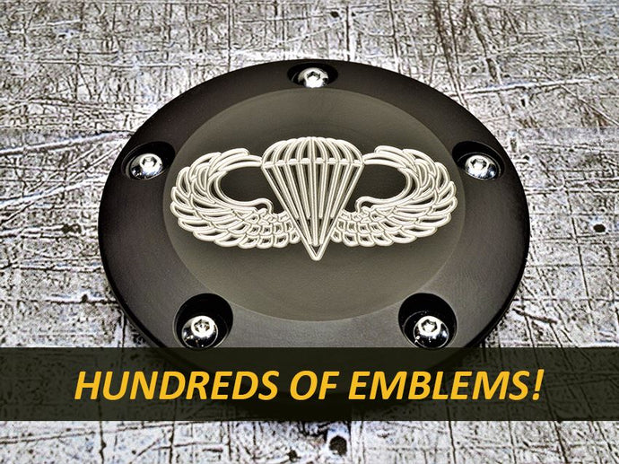 Milspin Harley Davidson points cover with engraved insignia
