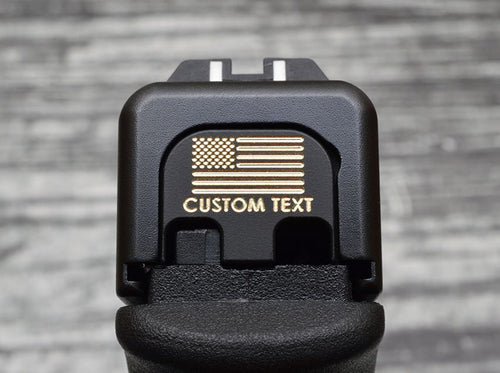 Personalized Flag Slide Back Plate