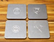 Police / Firefighter and EMS insignia drink coasters from MILSPIN