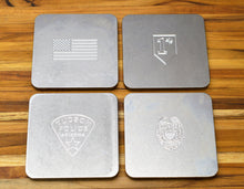Custom MILSPIN personalized drink coasters