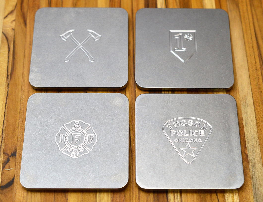 First Responder engraved drink coasters