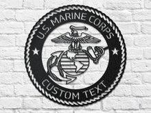 Custom Text USMC Eagle, Globe & Anchor (EGA) Steel Cut Out