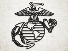 Milspin USMC Eagle, Globe, and Anchor Metal Wall Art