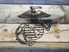 Milspin handcrafted USMC Eagle, Globe, and Anchor Metal Wall Art