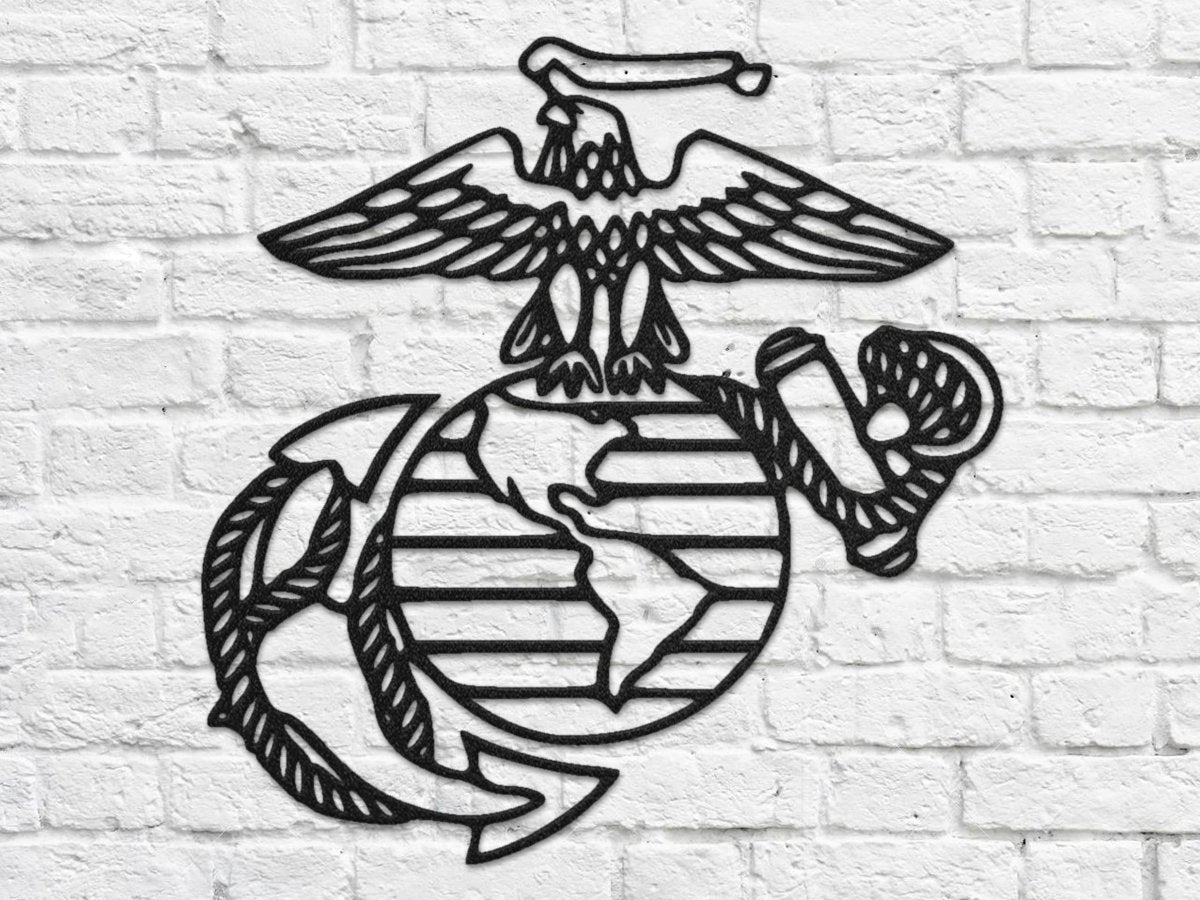 USMC Eagle, Globe, and Anchor Metal Wall Art
