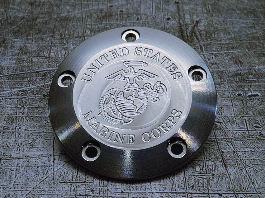 Harley Davidson USMC engraved points cover