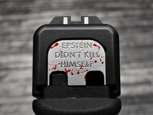 MILSPIN custom designed Glock slide back plates